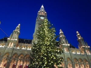 Rathaus all lit up